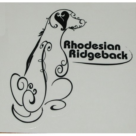 samolepka Rhodéský ridgeback01 - bílá