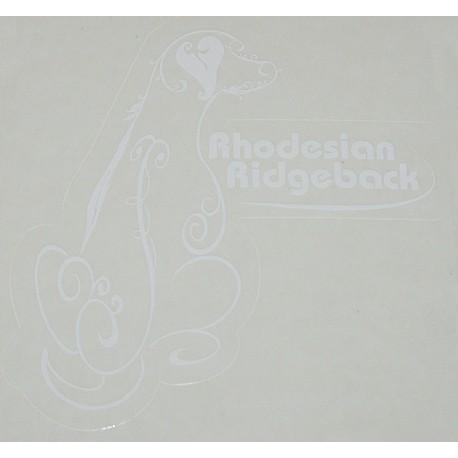 samolepka Rhodéský ridgeback02 kruh - bílá