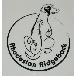 samolepka Rhodéský ridgeback02 kruh - černá