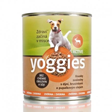 Yoggies Zvěřina s dýní a pupalkovým olejem 800g