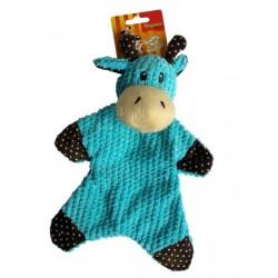 Kráva plyš modrá